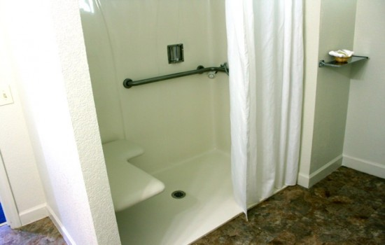 Welcome To The Jackson Lodge - Roll-In Shower With Shower Seat